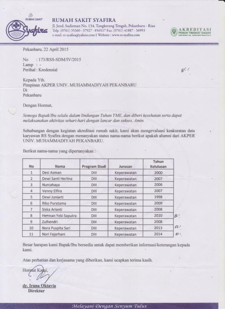 Alumni di RS Syafira 001