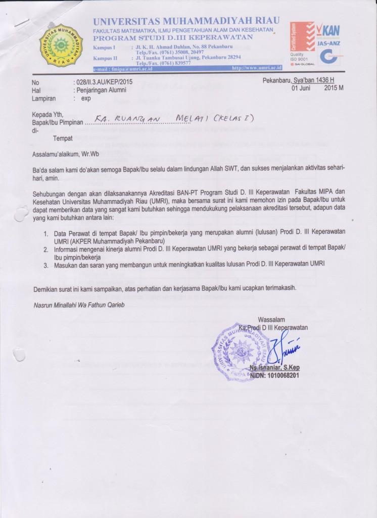 surat tracer study 001