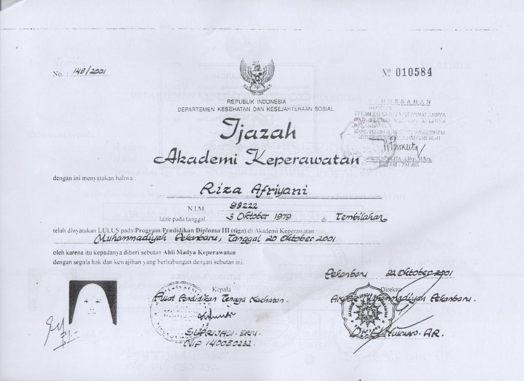RIZA AFRIANI RSUD RENGAT 001