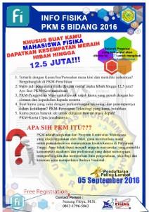 INFO PKM 5 BIDANG PROGRAM STUDI FISIKA