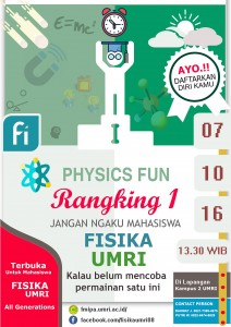 AGENDA PHYSICS FUN OKTOBER 2016 – RANGKING 1