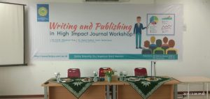 "WORKSHOP INTERNASIONAL FMIPA DAN KESEHATAN UMRI ""WRITING AND PUBLISHING IN HIGHT IMPACT JOURNAL WORKSHOP"""