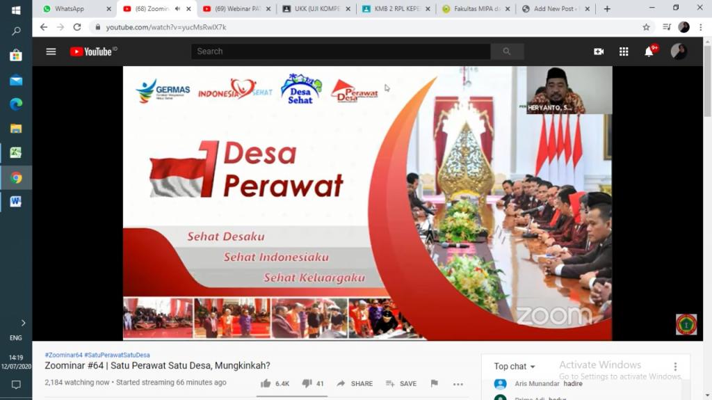 """""""OVON"""" PELUANG KERJA BAGI PERAWAT ALUMNI KEPERAWATAN UMRI 2020"""