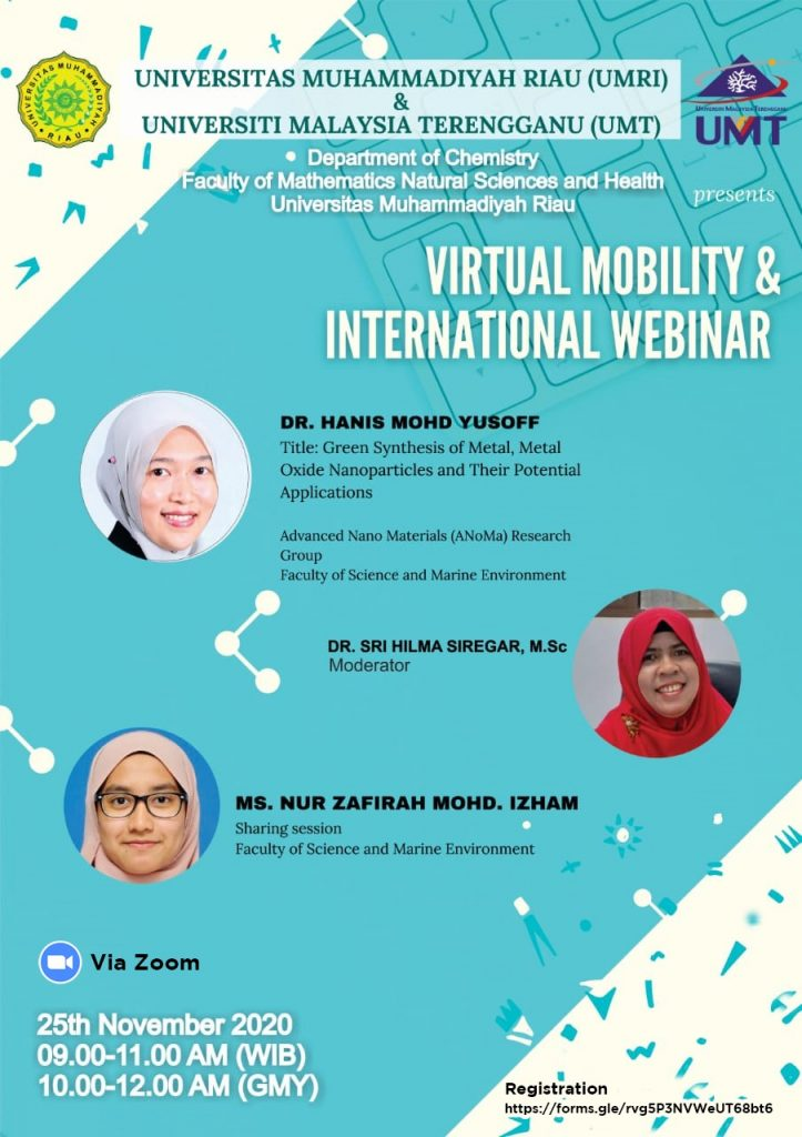 Prodi KIMIA Present : Virtual Mobility & International Webinar